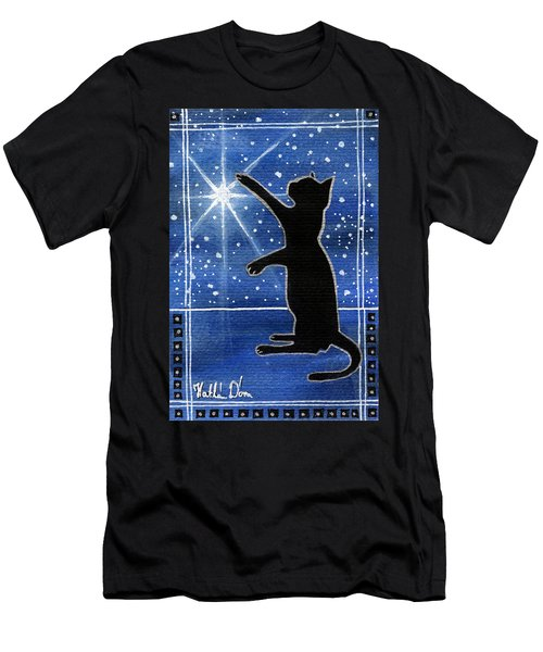 My Shinning Star - Christmas Cat Men's T-Shirt (Athletic Fit)
