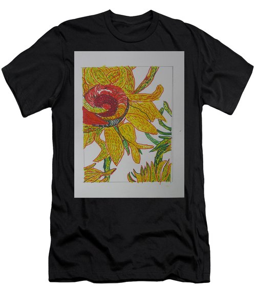 My Version Of A Van Gogh Sunflower Men's T-Shirt (Athletic Fit)
