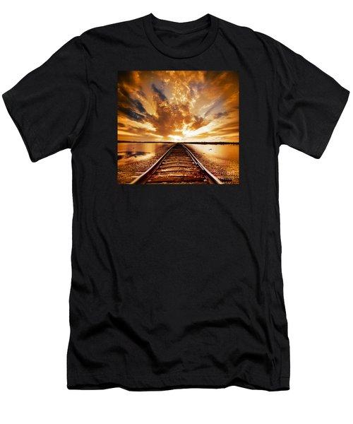 My Way Men's T-Shirt (Slim Fit) by Jacky Gerritsen