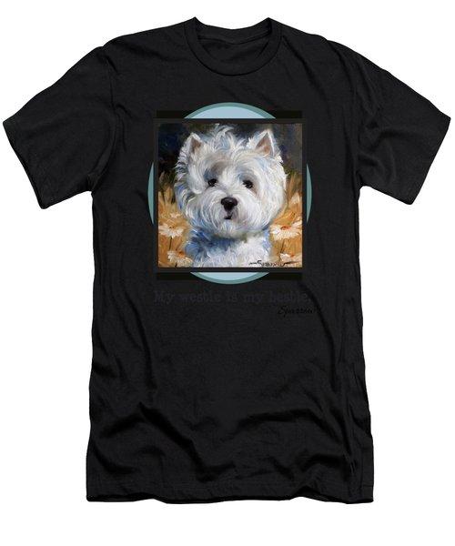 My Westie Is My Bestie Men's T-Shirt (Athletic Fit)