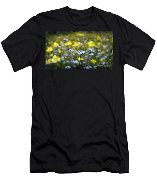 Myosotis With Yellow Flowers Men's T-Shirt (Athletic Fit)