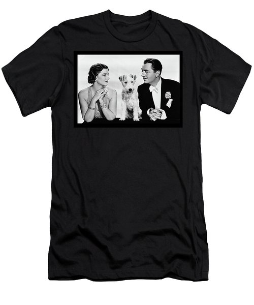 Myrna Loy Asta William Powell Publicity Photo The Thin Man 1936 Men's T-Shirt (Slim Fit) by David Lee Guss
