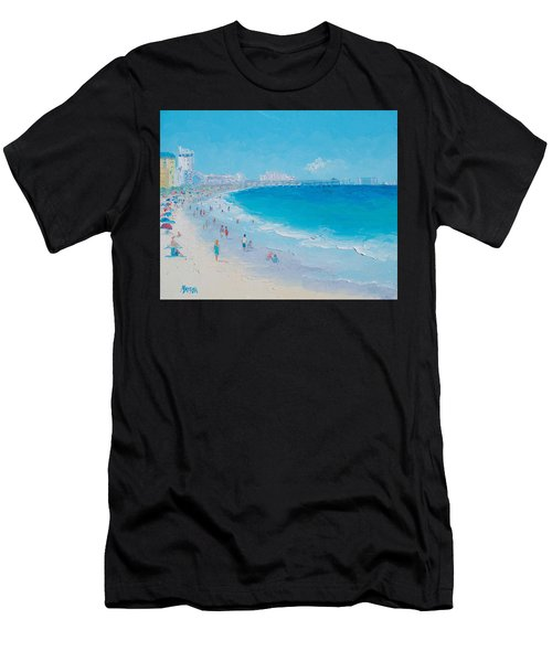 Myrtle Beach And Springmaid Pier Men's T-Shirt (Athletic Fit)