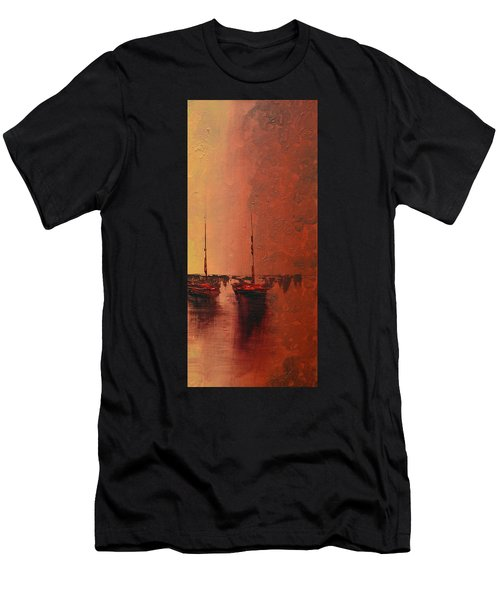 Mystic Bay Triptych 3 Of 3 Men's T-Shirt (Athletic Fit)