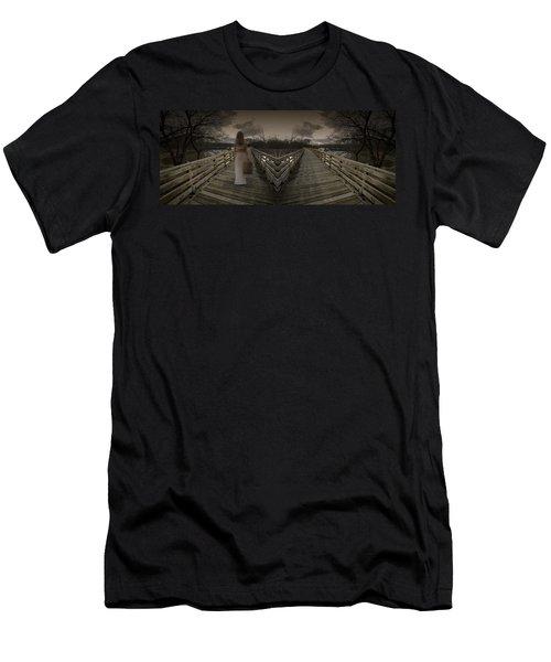 Mystic Bridge In A Dream World Men's T-Shirt (Athletic Fit)