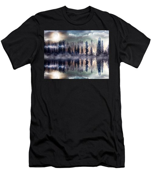 Mystic Lake Men's T-Shirt (Slim Fit) by Gabriella Weninger - David