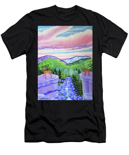 Mystic Mountain Men's T-Shirt (Athletic Fit)