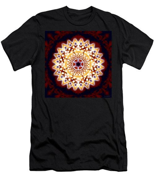 Men's T-Shirt (Athletic Fit) featuring the digital art Mystic Universe 7 Zodiac Lattice by Derek Gedney