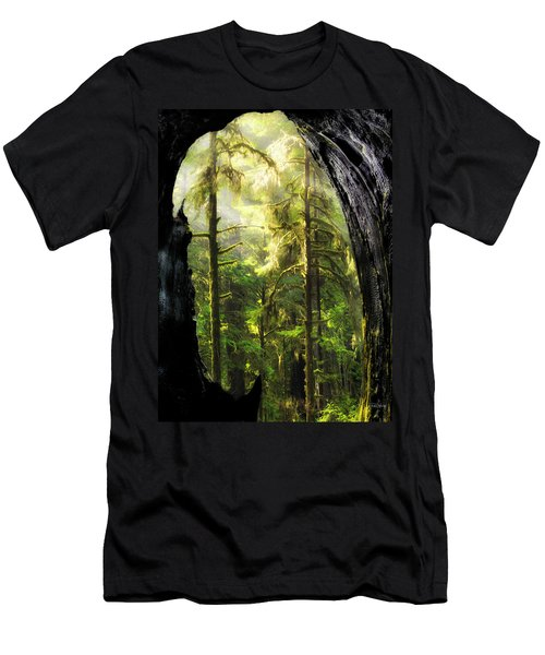 Mystical Forest Opening Men's T-Shirt (Slim Fit) by Leland D Howard