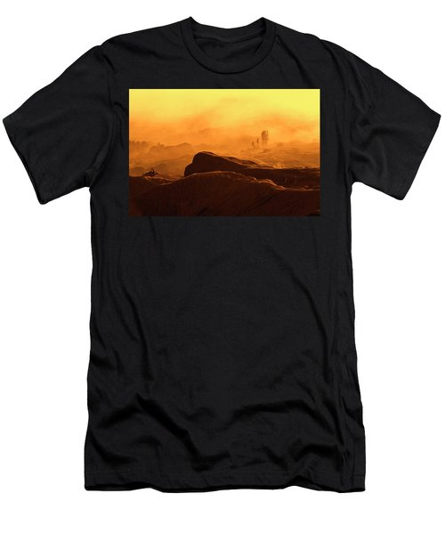 Men's T-Shirt (Athletic Fit) featuring the photograph mystical view from Mt bromo by Pradeep Raja Prints