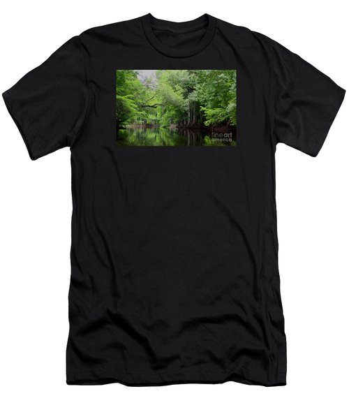 Men's T-Shirt (Slim Fit) featuring the photograph Mystical Withlacoochee River by Barbara Bowen
