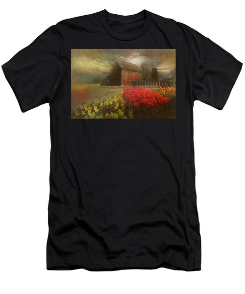 Mythical Tulip Farm Men's T-Shirt (Athletic Fit)