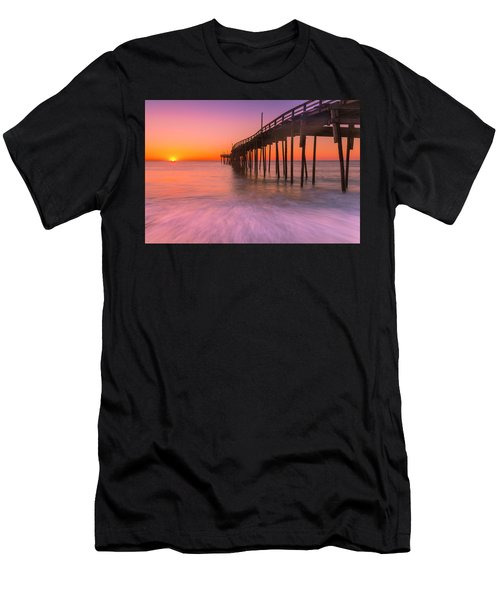 Nags Head Avon Fishing Pier At Sunrise Men's T-Shirt (Athletic Fit)