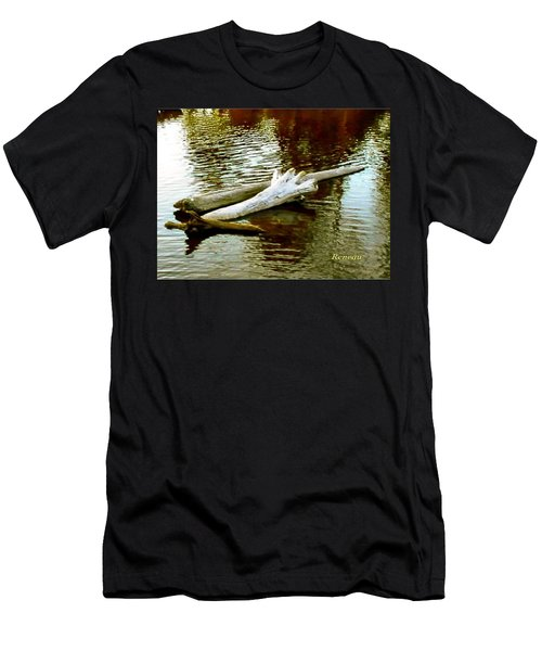 Men's T-Shirt (Slim Fit) featuring the photograph Nailbiting Driftwood by Sadie Reneau