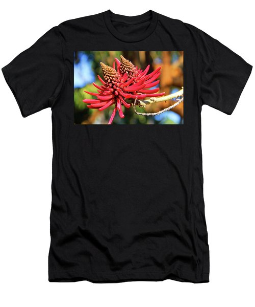 Naked Coral Tree Flower Men's T-Shirt (Athletic Fit)