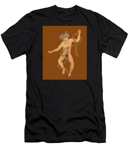 Men's T-Shirt (Athletic Fit) featuring the painting Naked Dancer #7 by Thomas Lupari