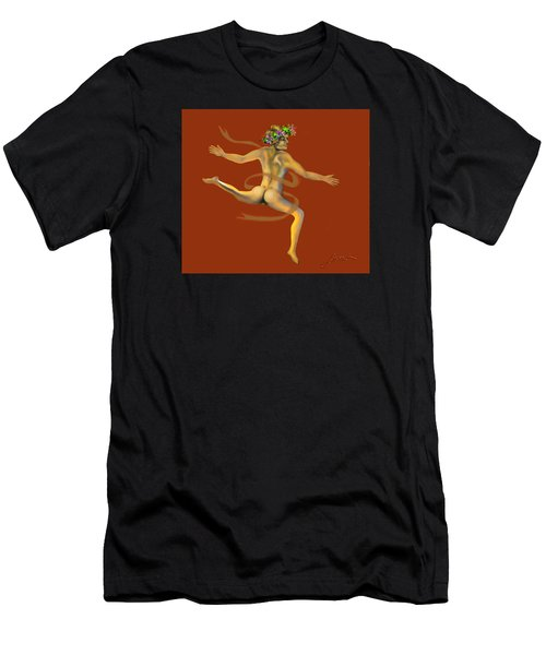 Men's T-Shirt (Athletic Fit) featuring the painting Naked Dancer by Thomas Lupari