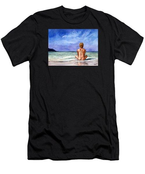 Naked Male Sleepy Ocean Men's T-Shirt (Athletic Fit)