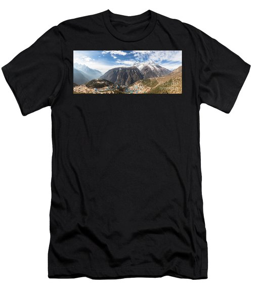 Namche Bazar Panorama Men's T-Shirt (Athletic Fit)