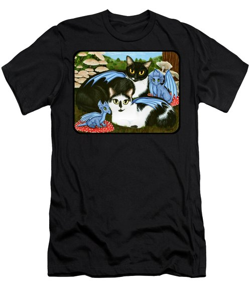 Nami And Rookia's Dragons - Tuxedo Cats Men's T-Shirt (Athletic Fit)