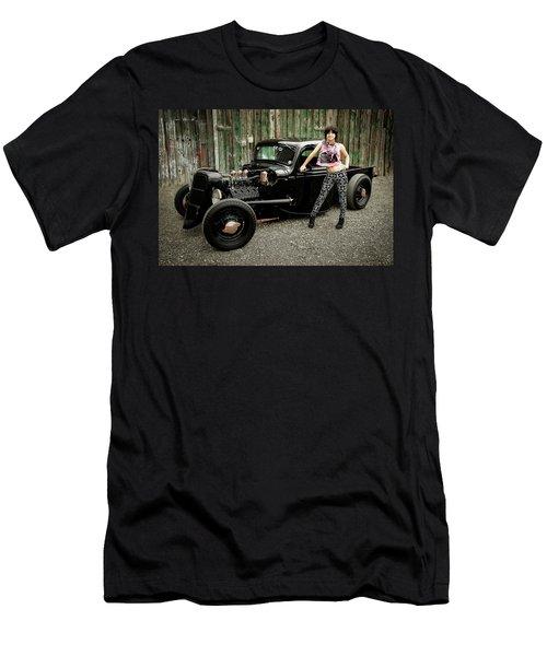 Nancy V Men's T-Shirt (Slim Fit) by Jerry Golab