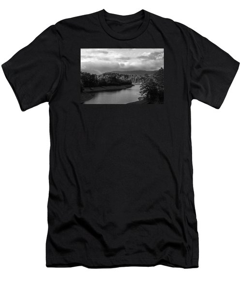 Men's T-Shirt (Slim Fit) featuring the photograph Nantahala River Blue Ridge Mountains by Kelly Hazel