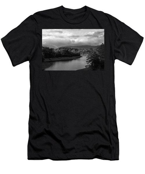 Nantahala River Blue Ridge Mountains Men's T-Shirt (Athletic Fit)
