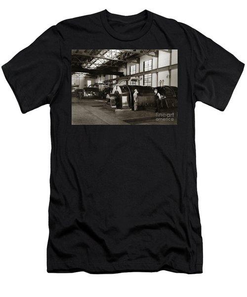 Nanticoke Pa Electrical Generators Glen Alden Mines Power Plant 1945 Men's T-Shirt (Athletic Fit)