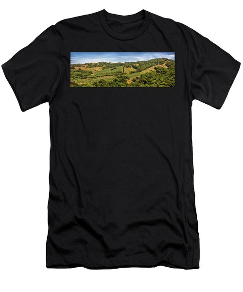 Men's T-Shirt (Athletic Fit) featuring the photograph Napa Valley California Panoramic by Adam Romanowicz