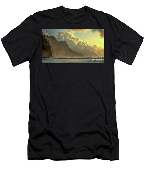 Napali Coast Kauai Hawaii Dramatic Sunset Men's T-Shirt (Athletic Fit)