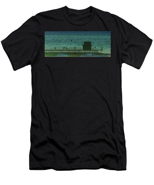 Naples Pier Men's T-Shirt (Athletic Fit)