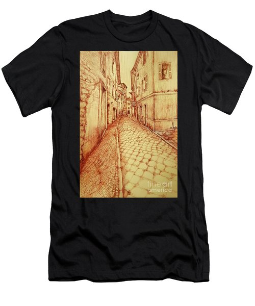 Narrow Street Of Lovere Italy Men's T-Shirt (Athletic Fit)