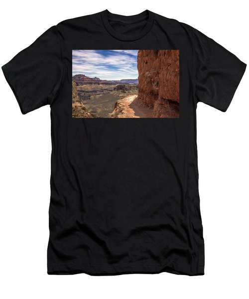 Narrow Trail On The South Kaibab Trail, Grand Canyon Men's T-Shirt (Athletic Fit)