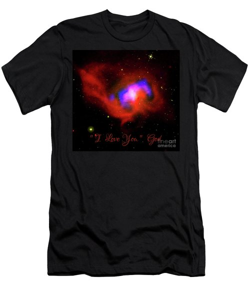 Nasa Black Hole Heart I Love You From God Men's T-Shirt (Athletic Fit)