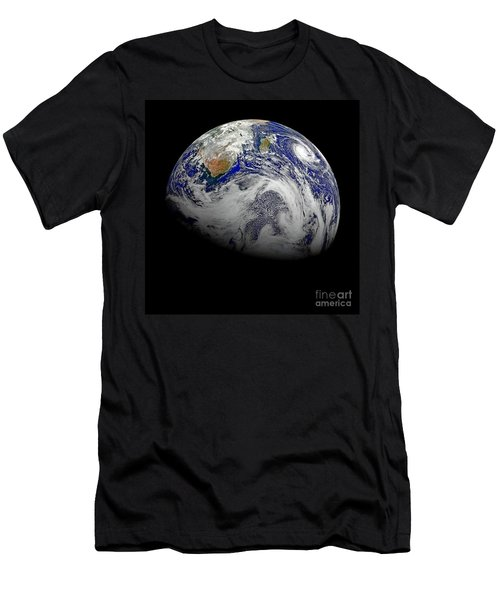 Nasa Hd Sky View Of Earth From Suomi Npp Men's T-Shirt (Athletic Fit)