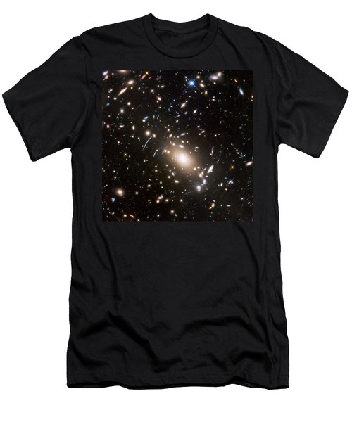 Men's T-Shirt (Slim Fit) featuring the photograph Nasa's Hubble Looks To The Final Frontier by Nasa
