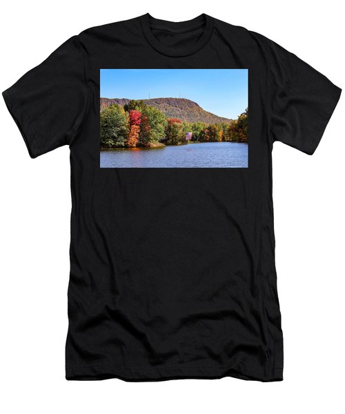 Nashawannuck Pond Fall Colors Men's T-Shirt (Athletic Fit)