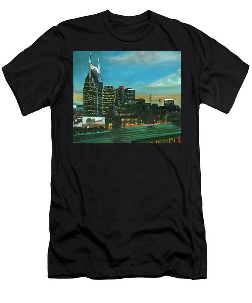 Nashville At Dusk Men's T-Shirt (Athletic Fit)