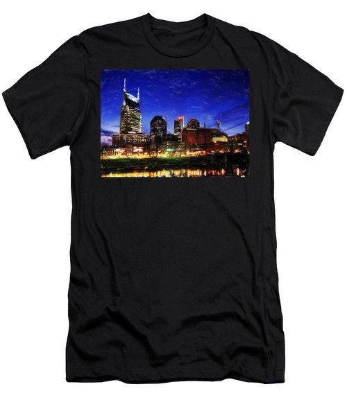Nashville At Twilight Men's T-Shirt (Athletic Fit)