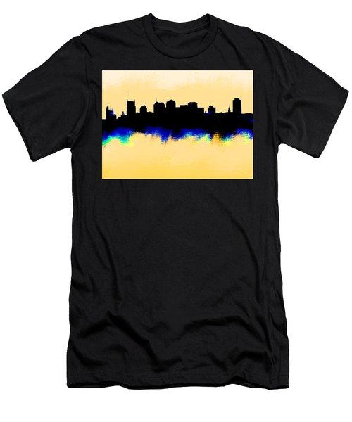 Nashville  Skyline  Men's T-Shirt (Slim Fit) by Enki Art