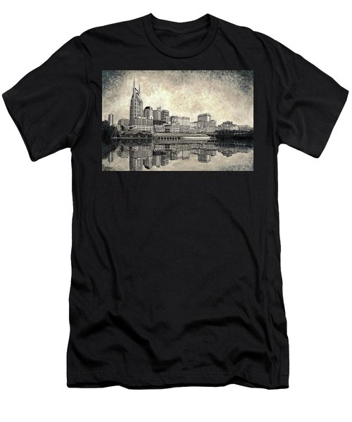 Nashville Skyline II Men's T-Shirt (Athletic Fit)