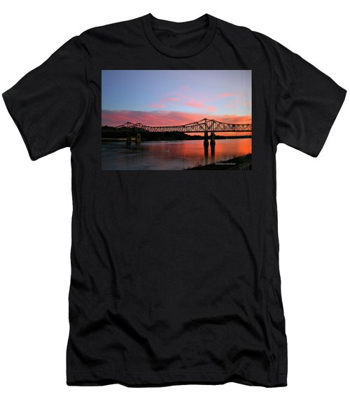 Natchez Sunset Men's T-Shirt (Athletic Fit)