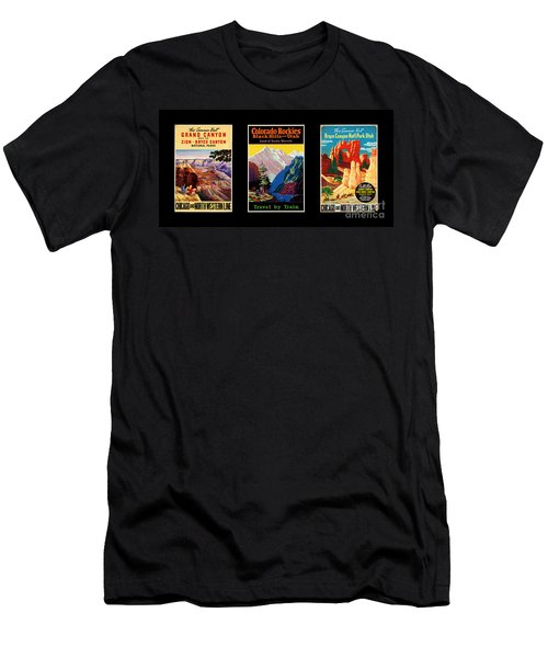 National Parks Posters Men's T-Shirt (Athletic Fit)