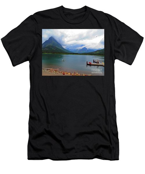 National Parks. Serenity Of Mcdonald Men's T-Shirt (Athletic Fit)