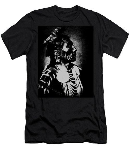 Native American 2 Curtis Men's T-Shirt (Slim Fit) by David Bridburg