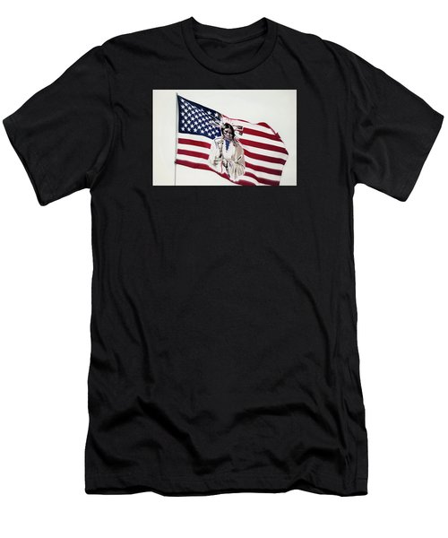 Native American Flag Men's T-Shirt (Athletic Fit)