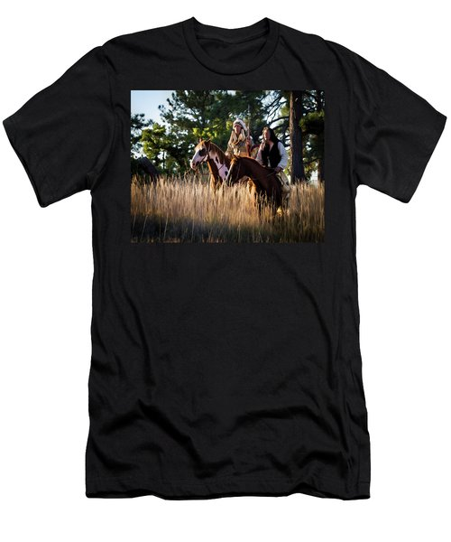 Native Americans On Horses In The Morning Light Men's T-Shirt (Athletic Fit)