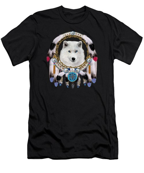 Native Indian Wolf Spirit Men's T-Shirt (Athletic Fit)
