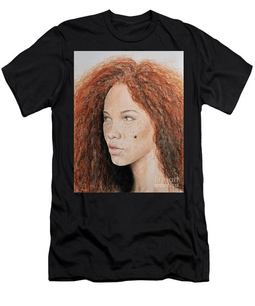 Natural Beauty With Red Hair  Men's T-Shirt (Athletic Fit)