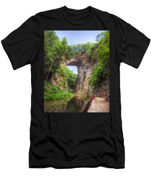 Natural Bridge - Virginia Landmark Men's T-Shirt (Athletic Fit)